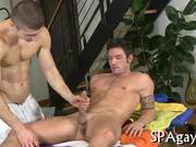 Stroking a lusty gay rod