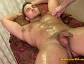 Oily Hunk Massaged