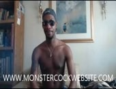 JERKING MONSTER BLACK COCK