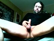 Pelle is hard and horny on webcam